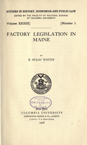 Download Factory legislation in Maine