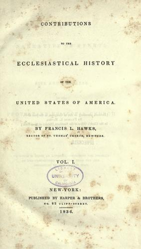 Download Contributions to the ecclesiastical history of the United States of America