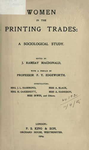 Download Women in the printing trades