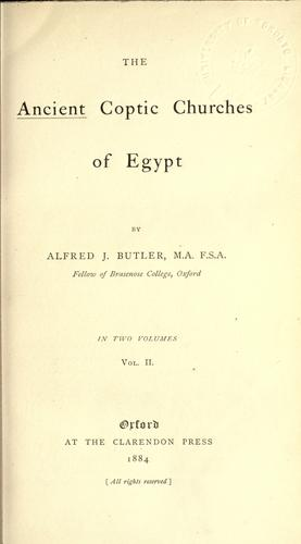 Download The ancient Coptic churches of Egypt