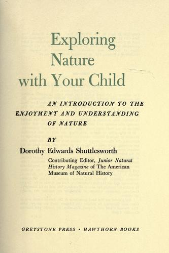 Download Exploring nature with your child