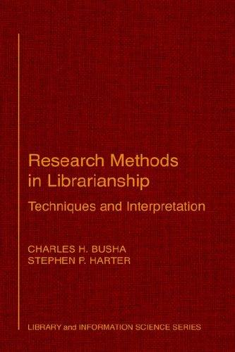 Download Research methods in librarianship