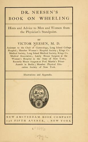 Dr. Neesen's book on wheeling by Victor Neesen