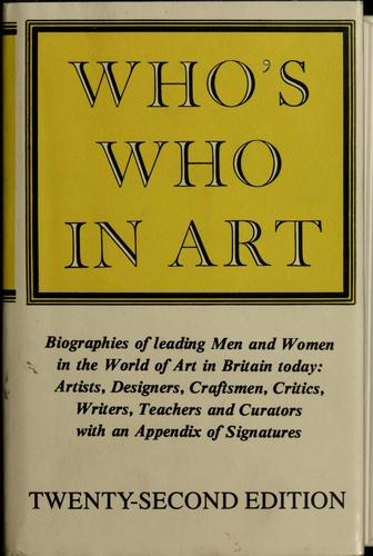 Who's who in art by