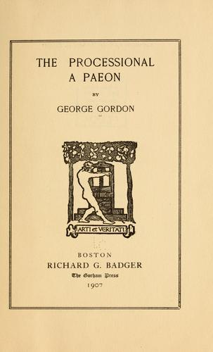 The processional by George Gordon
