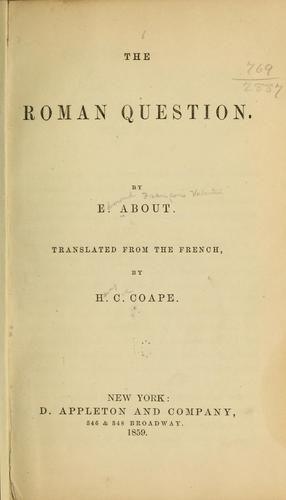 The Roman question.