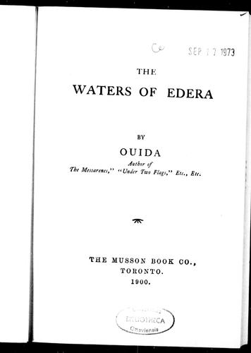 The waters of Edera by Ouida