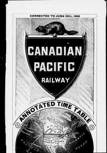 Annotated time table by Canadian Pacific Railway Company