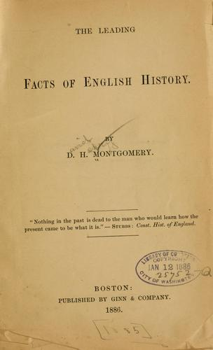 The leading facts of English history.