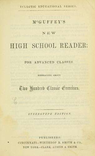 ...McGuffey's new high school reader by William Holmes McGuffey
