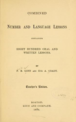 Combined number and language lessons by Fred B. Ginn