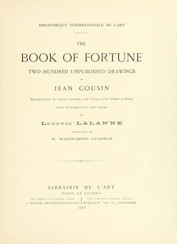The book of fortune by Jehan Cousin