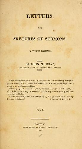 Letters, and sketches of sermons