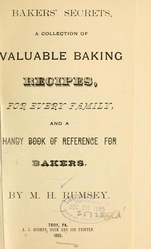Bakers' secrets by M. H Rumsey