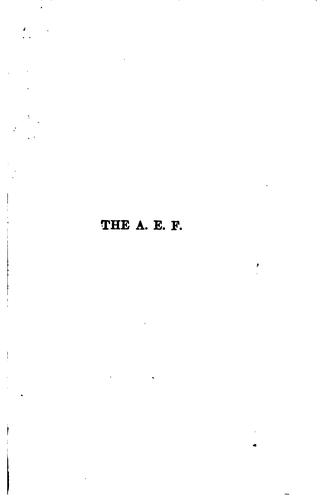The A. E. F by Heywood Broun
