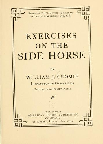Exercises on the side horse by William James Cromie