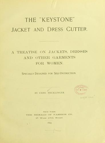"The ""Keystone"" jacket and dress cutter by Charles Hecklinger"
