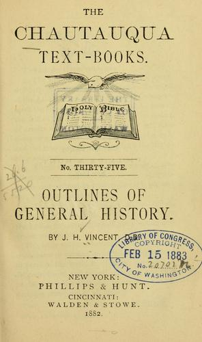 Outlines of general history by John Heyl Vincent