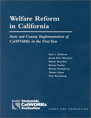 Welfare Reform in California
