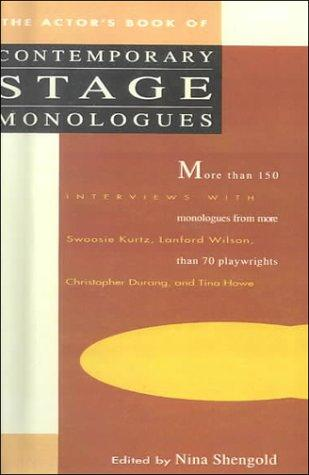 Actor's Book of Contemporary Stage Monologues