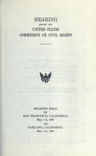 Hearing before the United States Commission on Civil Rights by United States Commission on Civil Rights.