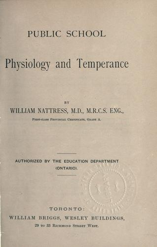 Public school physiology and temperance by William Nattress