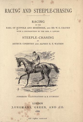 Racing and steeple-chasing: racing by Suffolk and Berkshire, Henry Charles Howard Earl of
