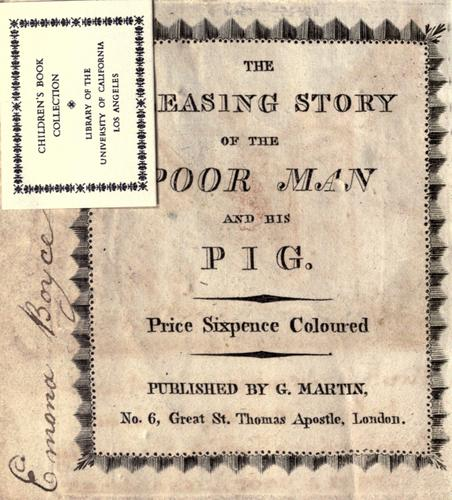 The pleasing story of the poor man and his pig by