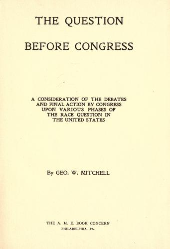 The question before Congress