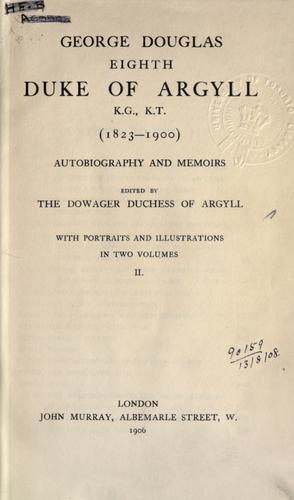 Autobiography and memoirs