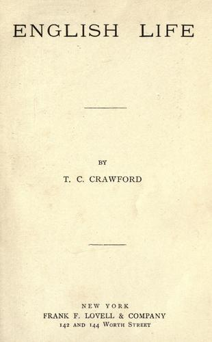 English life by Theron Clark Crawford