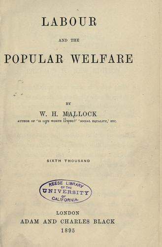 Labour and the popular welfare