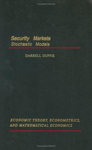 Security markets by Darrell Duffie